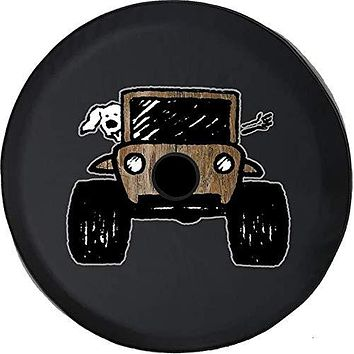 Spare Tire Cover Paw Prints Wood Barn Distressed Country fits 2018 2019 2020 Jeep Wrangler JL Accessories 32 Inch Backup Camera