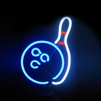 Bowling Neon Sculpture