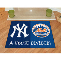 "Fan Mats Mlb New York Yankees Mlb New York Mets House Divided Rugs 34""X45"""