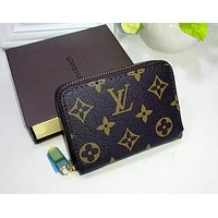 LV Louis Vuitton new zipper card package credit card set small coin purse F-WMXB-PFSH #4