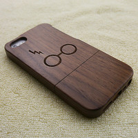 Harry Potter iPhone 5 case, wood iPhone 5S case, wooden iPhone 5 case, Harry Potter iPhone 5S case, wooden iPhone case, W2018