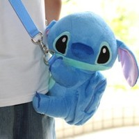 "DISNEY STITCH SOFT PLUSH CROSSBODY MINI BAG 9.5"" LIMITED EDITION.SALE !!! SALE !!!! LOWEST PRICE & FREE US SHIPPING. ORDER SOON."