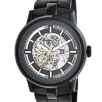 Kenneth Cole Mens Automatic Watch - Exhibition Dial - Black IP Case and Bracelet