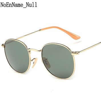 NoEnName_Null 100% Polarized Hot Brand Designer Classic Round Sunglasses Men Vintage Retro John Lennon Women Driving Sun Glasses