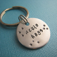 Harry Potter Accio Keys Hand Stamped Keychain by TheCopperFox