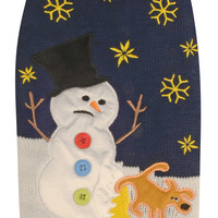 Christmas Snowman Ugly Dog Sweater