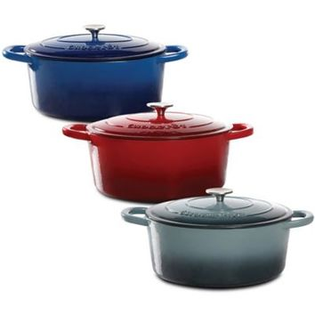 Crock-Pot® 7-Quart Oval Cast Iron Dutch Oven
