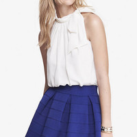 TIE NECK HALTER BLOUSE from EXPRESS