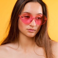 Lola Rimless Sunglasses | Pink