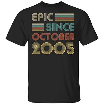 Epic Since October 2005 Vintage 15th Birthday Gifts