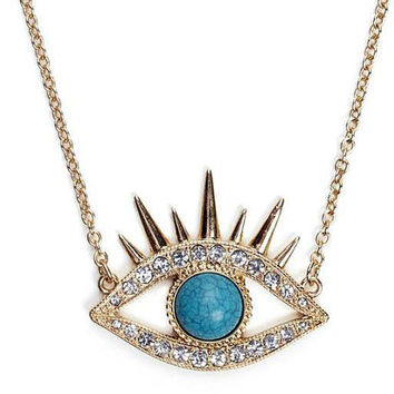 Necklace 063: Beauty Eye Necklace, Evil Eye Necklace, Charm Jewelry Necklace