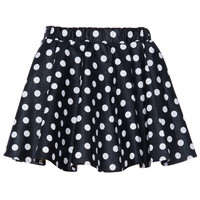 ROMWE | Polka Dots Faux Leather Black Skirt, The Latest Street Fashion