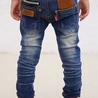 New 2015 spring autumn children's clothing boys baby jeans children trousers new Korean version retail 4-11years free shipping