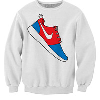 Nike Red And Blue Roshe Sweat Shirt