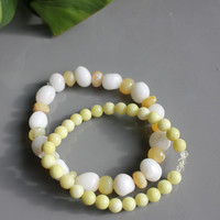 Genuine Jasper,  Mountain Jade and Swarovski crystal healing stack for tranquility and stress relief