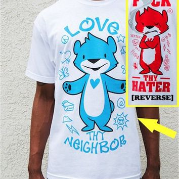 George Watsky  » Blog Archive   » Love Thy Neighbor/F*** Thy Hater Shirt