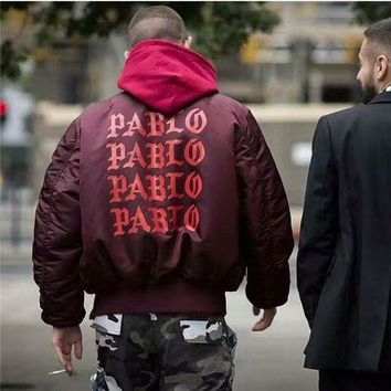 PABLO Yeezy Hip Hop Coat Fashion Cotton Hoodies Jacket S-XL