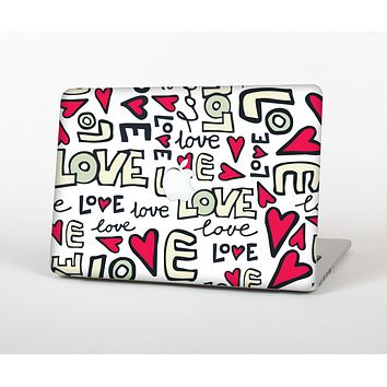 The Love and Hearts Doodle Pattern Skin for the Apple MacBook Air 13""