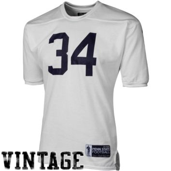 Tiedman & Formby Penn State Nittany Lions #34 1969 Vintage Mesh Football Jersey - White