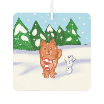 Snow Puppy Car Air Freshener