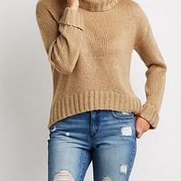Turtle Neck Pullover Tunic Sweater | Charlotte Russe