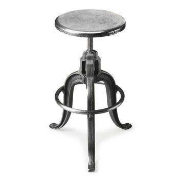 Industrial Chic Iron Bar Stool