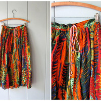 Thin Cotton Gauze Skirt 90s Hippie Skirt Safari Jungle Print Gypsy Skirt Long Summer Skirt Colorful Boho Skirt Womens Small Medium Large XL