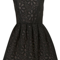 Black Embroidered Prom Dress - Dresses  - Apparel