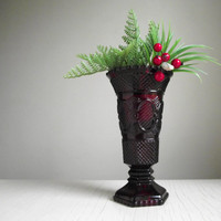 "Avon ""Cape Cod"" Ruby Vase 
