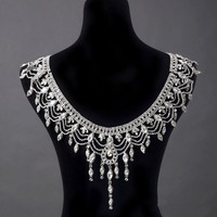 Crystal Chain Princess Cosplay Shoulder Necklace Crystal Jewelry Bridal