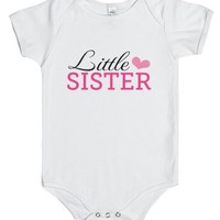 Little sister and pink heart, cute jumpsuit for baby girls-00