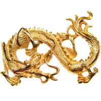 Vogue Dragon Brooch, Pendant, Signed, Rare, Collectible, Vintage, Late 1950s to Early 1960s