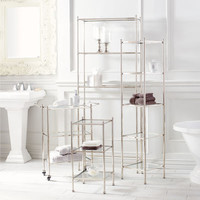 Luxe 5 Tier Polished Nickel Shelf