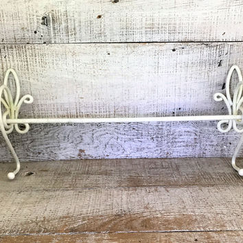 Towel Bar Bathroom Towel Rack  White Towel Bar Hand Towel Bar Mid Century Towel Rod Kitchen Towel Bar Towel Hanger Shabby Chic Bathroom