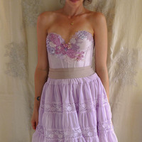 Violetta Bustier Dress... whimsical boho fairy bridesmaid formal pixie prom tutu corset ballerina free people alternative eco friendly
