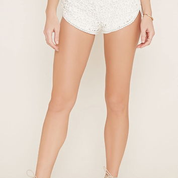 Floral Embroidered Shorts | Forever 21 - 2000153395