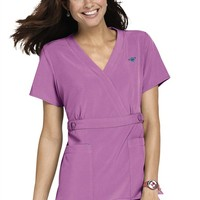 Med Couture Gold by Peaches Milan crossover v-neck scrub top. - Scrubs and Beyond