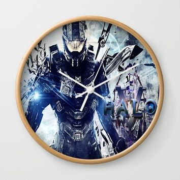 halo 5 Wall Clock by nurrahaq