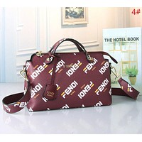 Fendi Fashion New More Letter Print Women Shoulder Bag Handbag