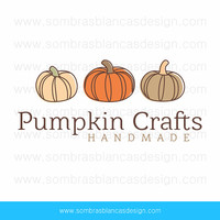 OOAK Premade Logo Design - Three Pumpkins - Perfect for handmade goods business