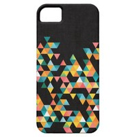 Tako - Colorful Vibrant Abstract Triangle Pattern iPhone 5 Cases