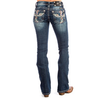 Miss Me Jeans-Multicolor Cross and Wings