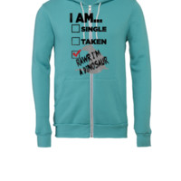I am...RAWR I'm a Dinosaur - Unisex Full-Zip Hooded Sweatshirt