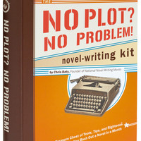 Handmade & DIY No Plot, No Problem Novel Writing Kit by Chronicle Books from ModCloth