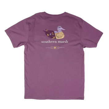 Authentic North Carolina Heritage Tee in Iris by Southern Marsh