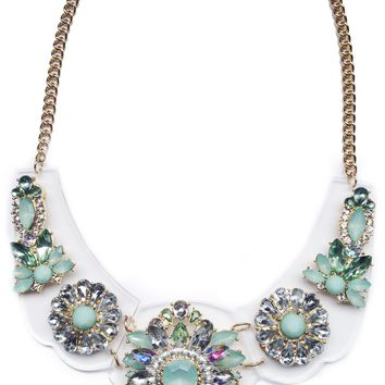 Mint Enchanted Gems Necklace (As seen in Us Weekly & People Style Watch)