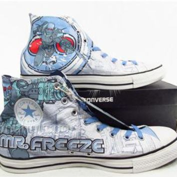 Converse MR. FREEZE Batman Villain Chuck Taylor DC Comics Shoes Sneakers RARE!