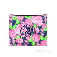 Monogrammed Cosmetic Pouch | Marleylilly