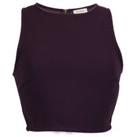 Head Babe in Charge Crop Top - Purple