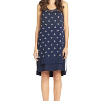 Abrielle Crystal Scoopneck Dress